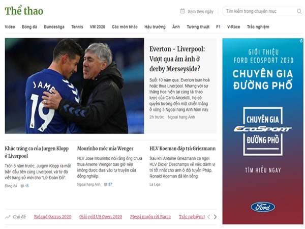 5 trang tin bóng đá hay nhất Việt Nam hiện nay
